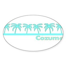 Cozumel, Mexico Oval Decal