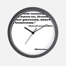 Out of Touch Mitt Wall Clock