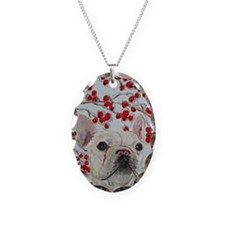 Journal French Bulldog Necklace Oval Charm