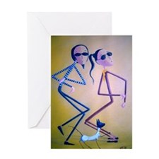 Dancing With The Cat Greeting Card