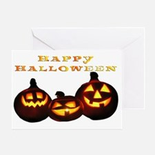 happy halloween pumpkins skull jack  Greeting Card
