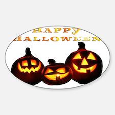 happy halloween pumpkins skull jack Decal