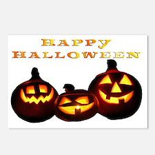 happy halloween pumpkins  Postcards (Package of 8)