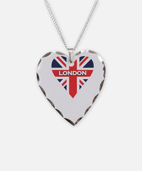 London Heart Script Necklace