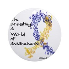 World of Down Syndrome Awareness (n Round Ornament