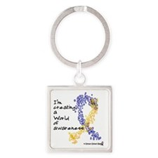 World of Down Syndrome Awareness ( Square Keychain