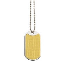 SimpleFlower_Yellow1_Large Dog Tags