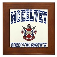 MCKELVEY University Framed Tile