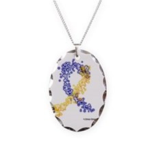 Down Syndrome Awareness Ribbon Necklace