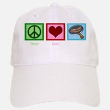 Peace Love Bacon Baseball Baseball Cap
