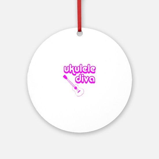 Ukulele Diva Round Ornament