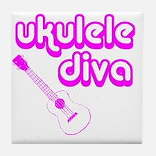 Ukulele Diva Tile Coaster