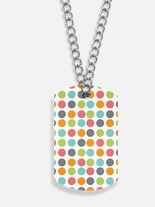 Dots Light_Large Dog Tags