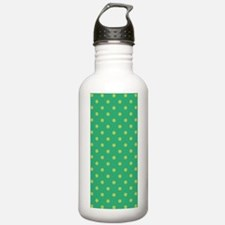 Dots Diag_Green_Large Water Bottle