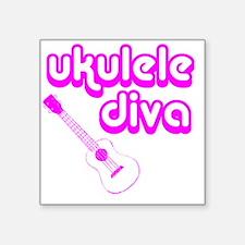 """Ukulele Diva Square Sticker 3"""" x 3"""""""