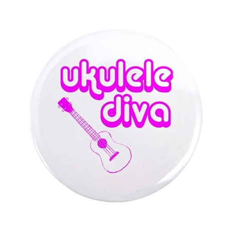 "Ukulele Diva 3.5"" Button"