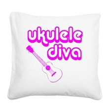 Ukulele Diva Square Canvas Pillow