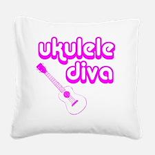 Ukulele Diva Square Canvas Pillow