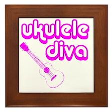 Ukulele Diva Framed Tile