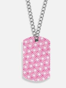 FlowerLoop_Pink1_Large Dog Tags