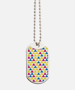 GeoTriangle_Yellow1_Large Dog Tags