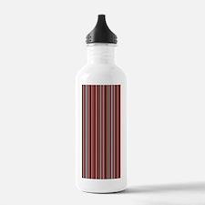 Stripes1_BrownPink_Lar Water Bottle