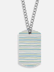 StripesRough_BlueGreen1_Large Dog Tags
