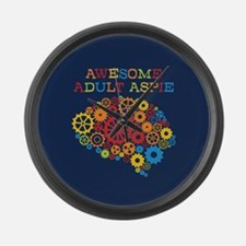 Aspie Adult Autism Large Wall Clock