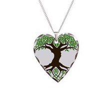 colored tree of life Necklace Heart Charm