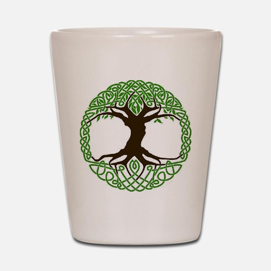 colored tree of life Shot Glass