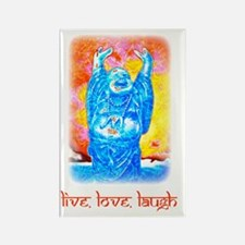 Live, Love, Laugh Buddha t-shirts Rectangle Magnet