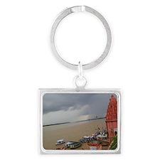 Beautiful Ganga Ghats Landscape Keychain