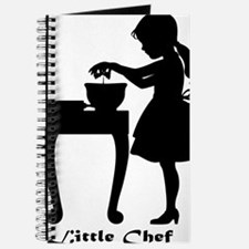 Little Chef Breaking Eggs in Mixing Bowl Journal