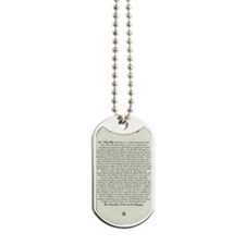 DESIDERATA Poem Dog Tags
