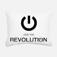 Join the Revolution Larg Rectangular Canvas Pillow