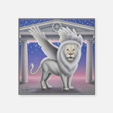 "Winged Lion Square Sticker 3"" x 3"""