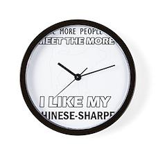 Chinese sharpei designs Wall Clock