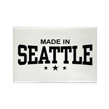 Made in Seattle Rectangle Magnet
