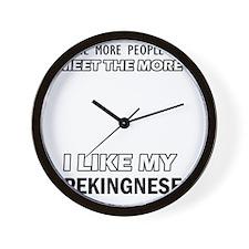 Pekingnese Designs Wall Clock