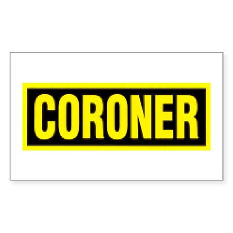 Coroner Logo Rectangle Sticker