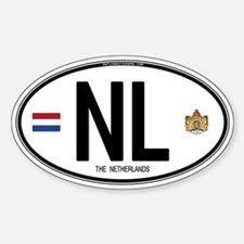 Netherlands Intl Oval Oval Stickers