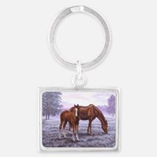 A New Day Begins Landscape Keychain