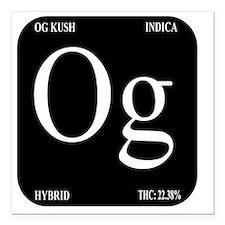 """OG Black Design Square Car Magnet 3"""" x 3"""""""