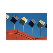 Decor on Burger Joint Roof Rectangle Magnet