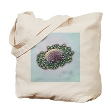 Lung cancer cell, SEM Tote Bag