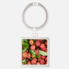 Lychees Square Keychain