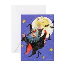 Mad Millie Moon Dance Greeting Card