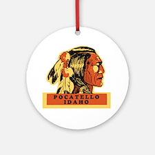 Pocatello Idaho Round Ornament