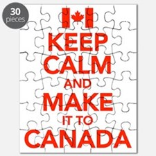 Keep Calm and Make It To Canada Puzzle