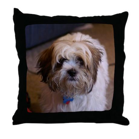 Loki Dog Throw Pillow